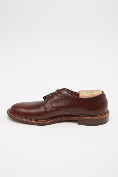 Alden Plain Toe Blucher Flex Dark Brown Aniline Pull-Up #29364F