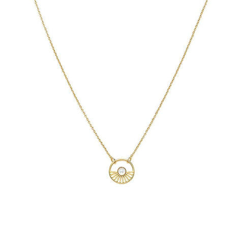 L'atelier Emma & Chloe - Margaret Gold Necklace - Mother of Pearl