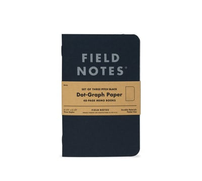 Field Notes Pitch Black Memo Book Dot-Graph - Totem Brand Co.