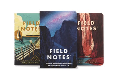 Field Notes National Parks - Series A: Yosemite, Acadia, Zion