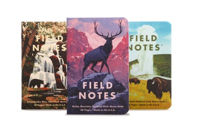 Field Notes National Parks - Series C: Rocky, Smoky, Yellowstone
