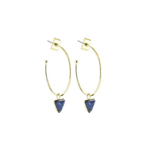 L'atelier Emma & Chloe - Lara Earrings - Lapis