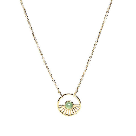 L'atelier Emma & Chloe - Margaret Gold Necklace - Rose Quartz