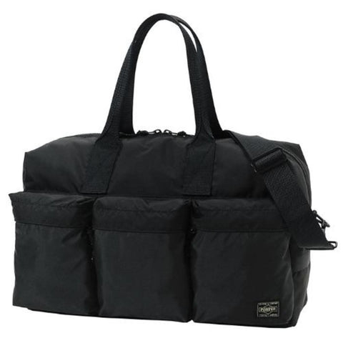 Porter-Yoshida & Co. FORCE 2-WAY DUFFLE BAG - BLACK