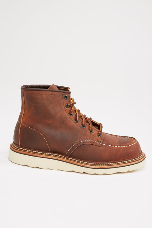 "Red Wing Men's 1907 Classic Moc 6"" Boot Copper Rough and Tough Leather"