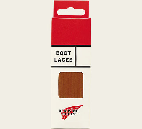 Red Wing Heritage Leather Boot Laces (Chestnut) - Totem Brand Co.