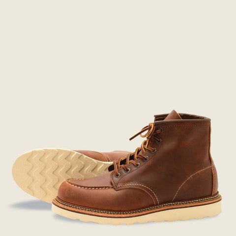 Red Wing #1907 Classic Moc Men's 6-Inch Boot in Copper Rough and Tough Leather