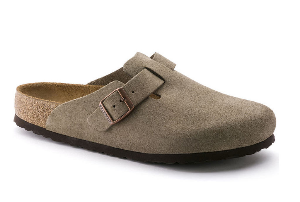 Birkenstock Boston - Suede Leather - Taupe