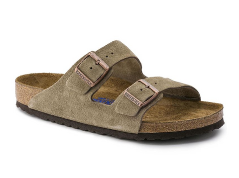 Birkenstock Arizona - Taupe Suede Leather Soft Footbed