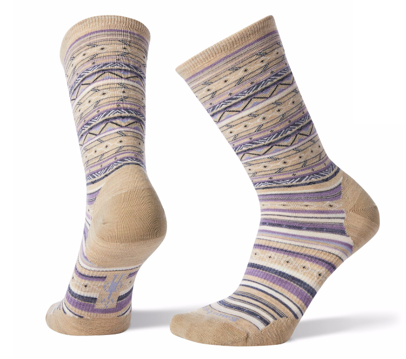Smartwool Women's Ethno Graphic Crew Socks - Oatmeal