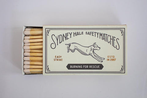 Sydney Hale Matches - BURNING FOR RESCUE MATCHBOX