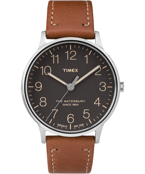 Timex Waterbury (Stainless Steel/Brown/Black) - Totem Brand Co.