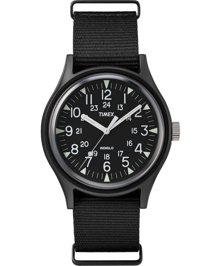 Timex MK1 Aluminum 40mm Fabric Watch - Black