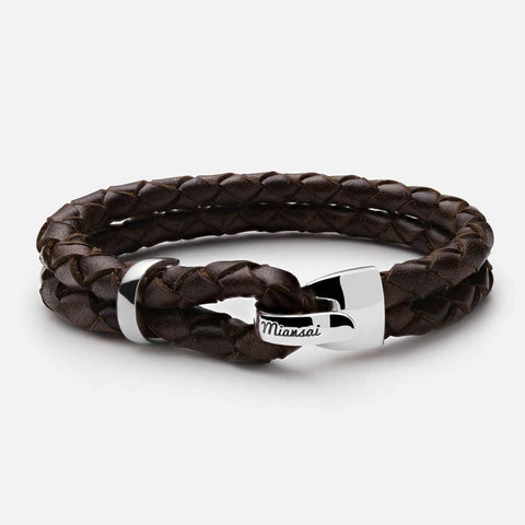Miansai Beacon Leather Bracelet Sterling Silver - Totem Brand Co.