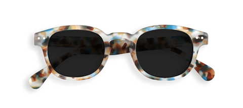 Izipizi Sunglasses #C Soft Grey Lenses - Blue Tortoise
