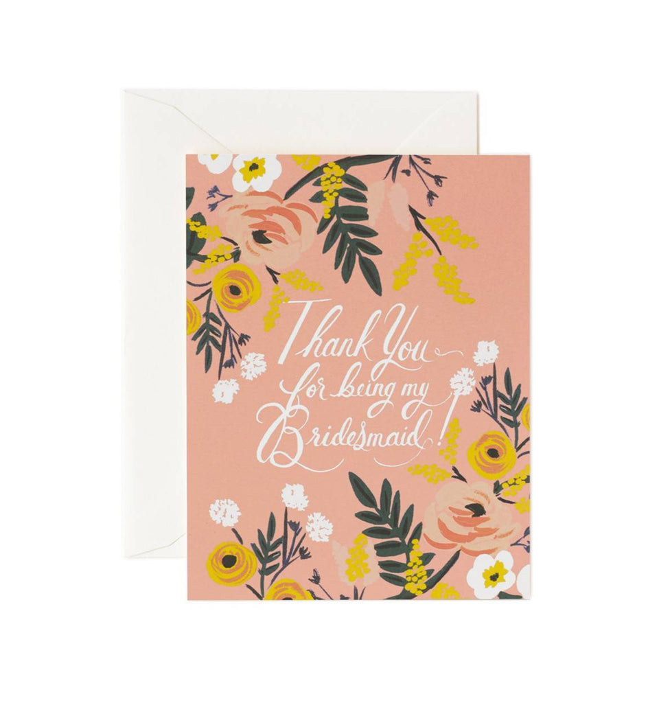 Rifle Paper Co Thank You Bridesmaid Greeting Card - Totem Brand Co.
