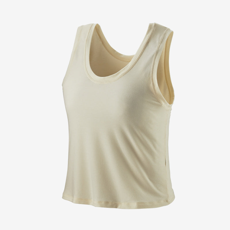 Patagonia Women's Glorya Twist Tank- White Wash