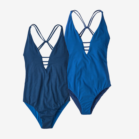 Patagonia Women's Reversible Extended Break One-Piece Swimsuit - Superior Blue