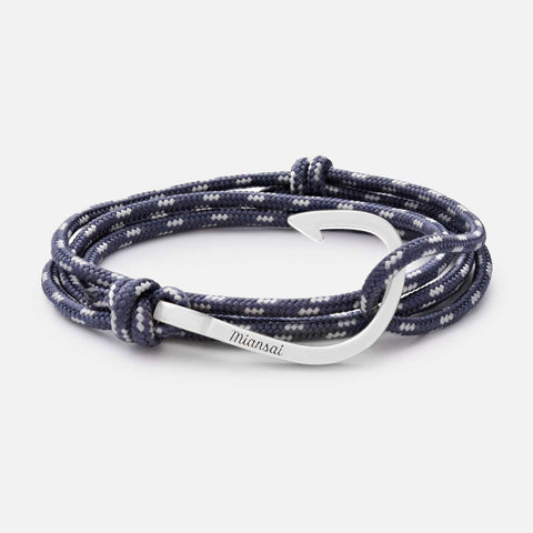 Miansai Sliver Hook on Rope Bracelet, Sliver - Totem Brand Co.