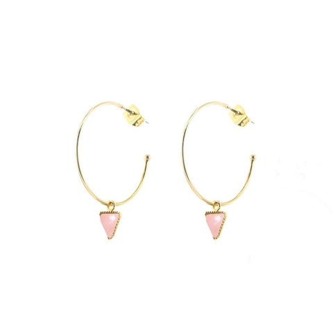 L'atelier Emma & Chloe - Lara Earrings - Rose Quartz