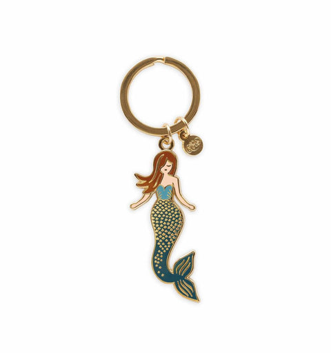 Rifle Paper Co. Enamel Keychain - Mermaid - Totem Brand Co.