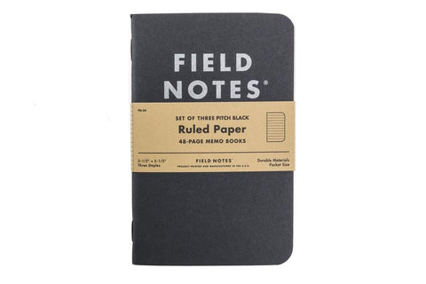 Field Notes Pitch Black Memo Book Ruled