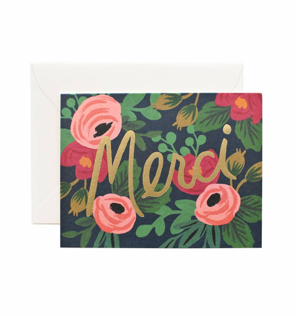 Rifle Paper Co Rosa Merci Greeting Card - Totem Brand Co.