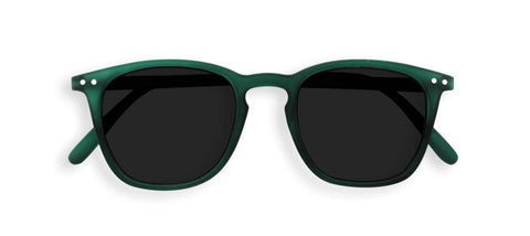 Izipizi Sunglasses #E Soft Grey Lenses - Green Crystal