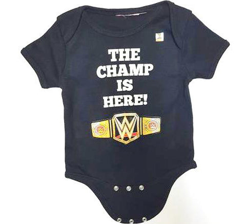 WWE- The Champ is Here Baby Onesie