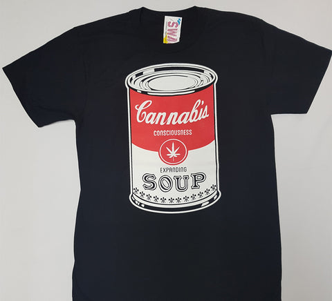 Cannabis Soup - Consciousness Expanding Can Shirt