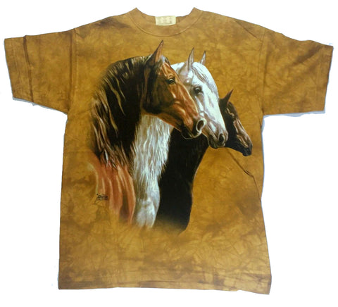 Horses - Brown, White and Black Horses Mountain Shirt