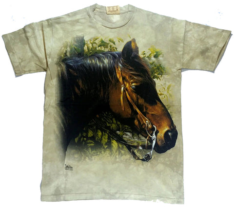 Horses - Horse Head With Reigns Mountain Shirt