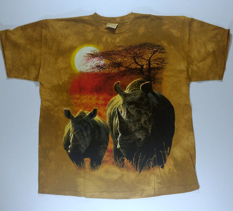 Rhinos - Saharan Sunset Mountain Shirt