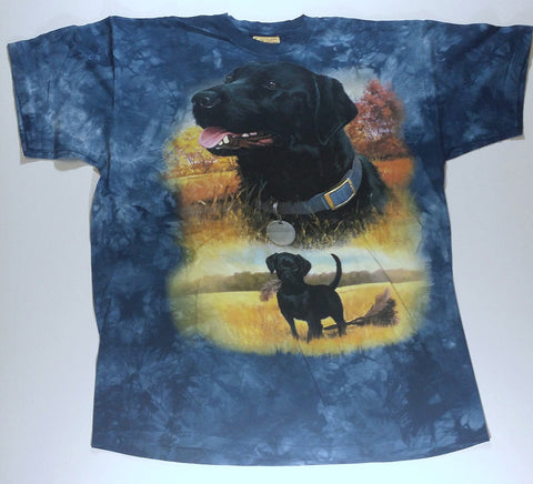 Dogs - Two Black Labs Mountain Shirt