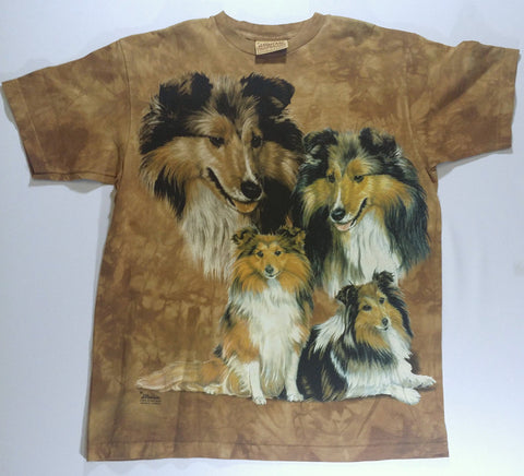 Dogs - Four Shelties Mountain Shirt