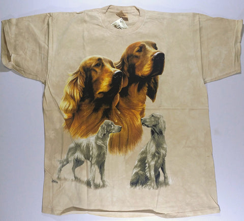 Dogs - Two Golden Labs Mountain Shirt