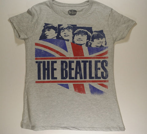 Beatles, The - England Flag Band Girlie Shirt
