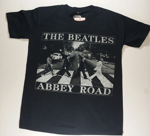 Beatles, The - Black and White Abbey Road Shirt