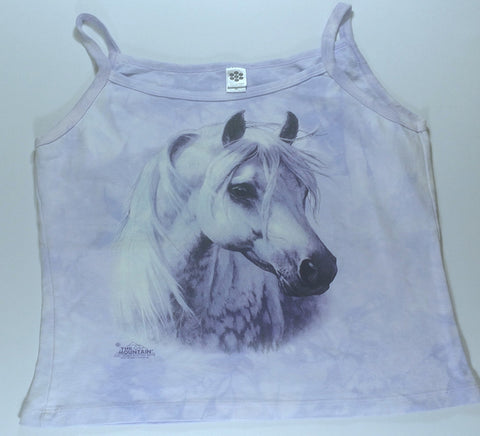 Horses - White Horse Womens Tank Top Mountain Shirt