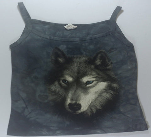 Wolves - Grey Wolf Womens Tank Top Mountain Shirt