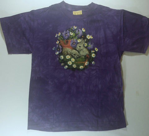 Rabbits - Bunnies In Flowers Youth Mountain Shirt