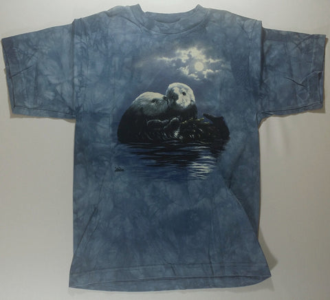 Otters - Cuddling Otters Youth Mountain Shirt