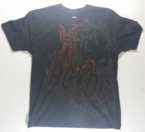 AC/DC - Black Ice (Angus) Liquid Blue Shirt