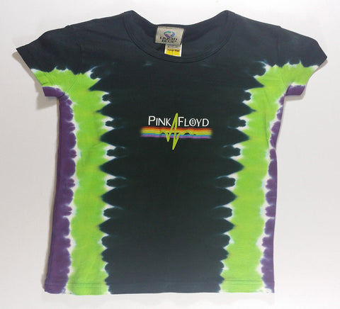 Pink Floyd - Dark Side Green Pulse Liquid Blue Girlie Shirt
