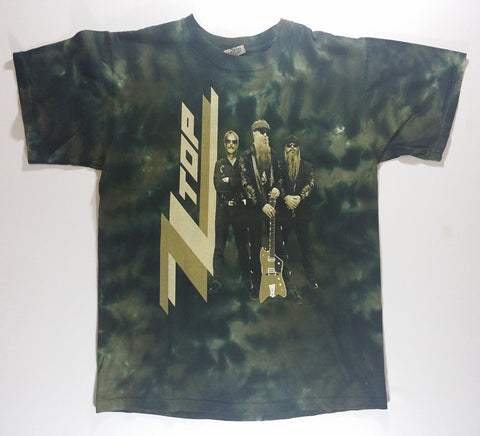 ZZ Top - Band With Logo Liquid Blue Shirt