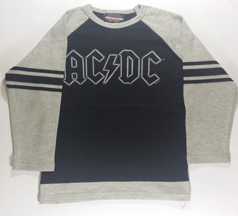 AC/DC - Grey and Black Jersey #74 Long Sleeve Girlie Shirt