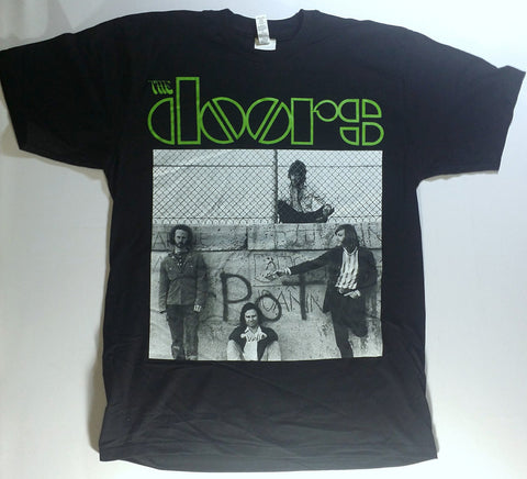 Doors, The - POT Graffiti Green Logo Shirt