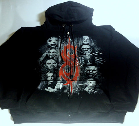 Slipknot - Red S Band Heads Zip-Up Hoodie
