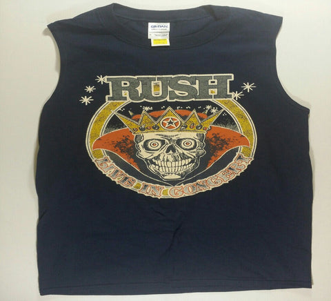 Rush - A Farewell To Kings Live In Concert Sleeveless Blue Shirt