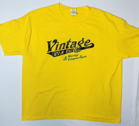 Vintage Vinyl - Yellow 25th Anniversary Logo Shirt